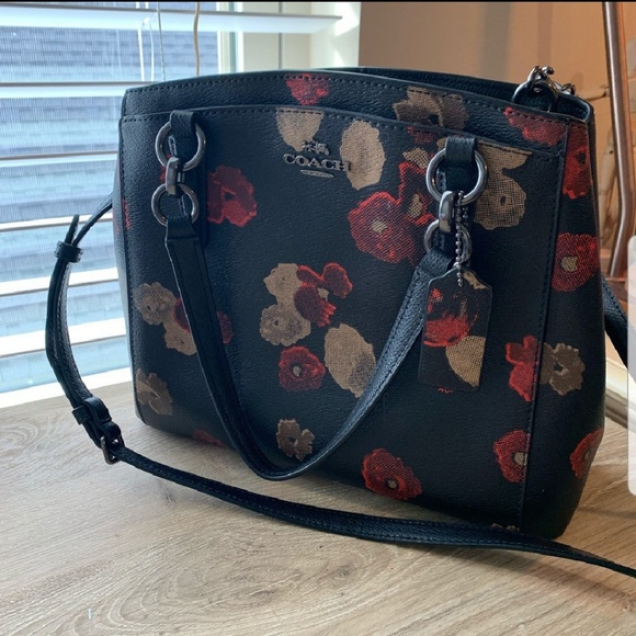Coach Bags Poppy Flower Crossbody Purse Poshmark